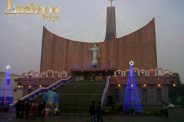 Picture of Christmas Eve decoration at the Cathedral Lucknow