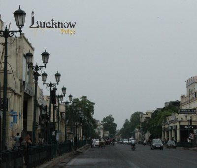A picture of M G Road, Hazratganj Lucknow