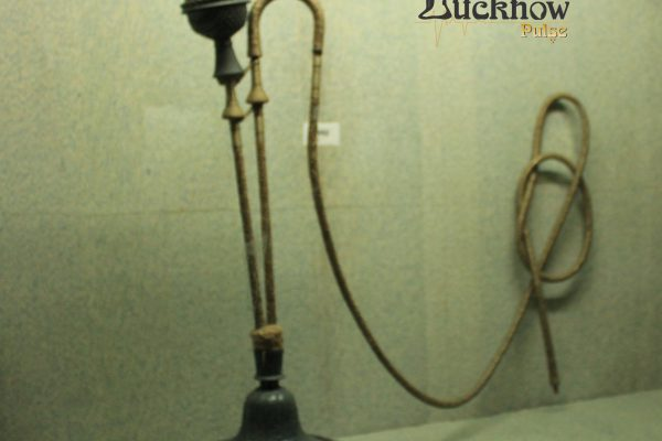 Picture of a hookah used by Lucknow's Nawabs