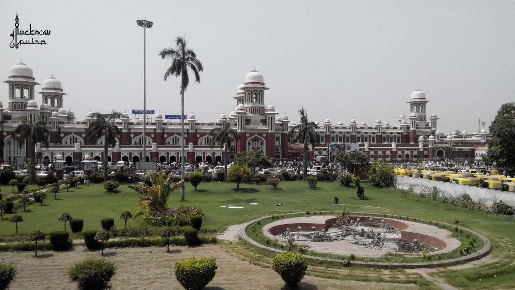 Picture of the Charbagh Railway Station at Lucknow.