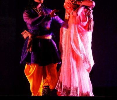 a still picture from dance allethaiyya ka qissa during wajid ali shah festival lucknow