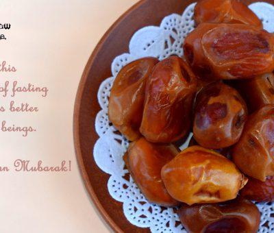 A tray full of dates for fast breaking during Ramzan or Ramadan