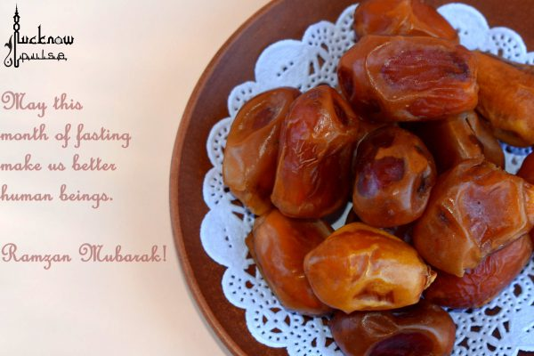 A tray full of dates for fast breaking during Ramzan or Ramadan
