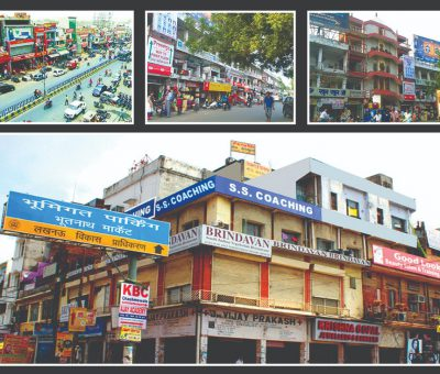 a collage of bhootnath market lucknow pictures