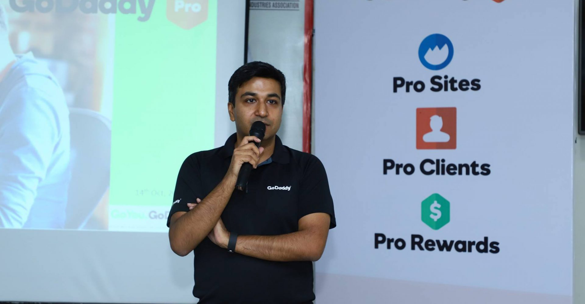 Gaurav - Speaker at the GoDaddy Pro Event Lucknow 2018