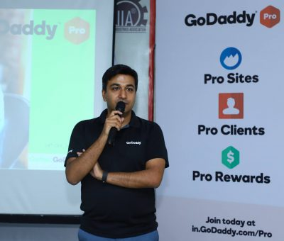 Gaurav - Speaker at the GoDaddy Pro Event Lucknow 2018