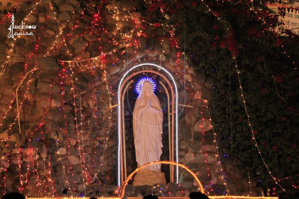 Christmas decor at CATHEDRAL LUCKNOW