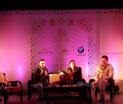 A discussion - Royal Fables Exhibition in Lucknow