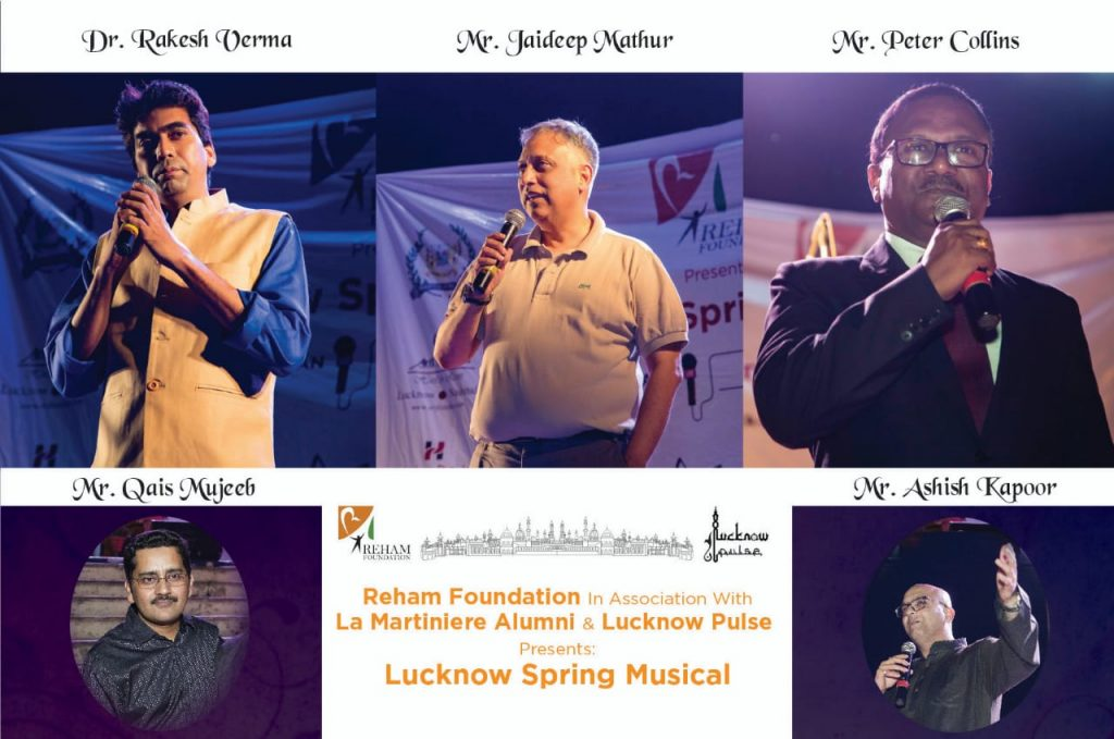 Pictures of distinguished guests and hosts of Lucknow Spring Musical