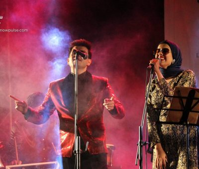 anamta amaan performing in a live concert at la martiniere college lucknow