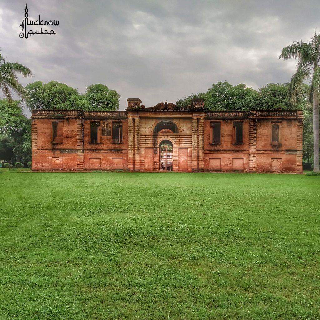 Picture of Dilkusha Kothi - a heritage palace at Lucknow India. This building was used as a kitchen as well as stable.
