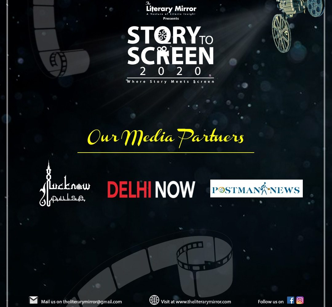 story-to-screen event by literary mirror. social media partner is lucknowpulse.com