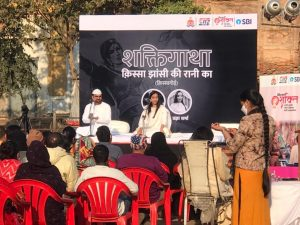 The audience enjoying the qissagoi by Himanshu Bajpai at Rifa-e-Aam club in Lucknow. Picture by LucknowPulse.com team.